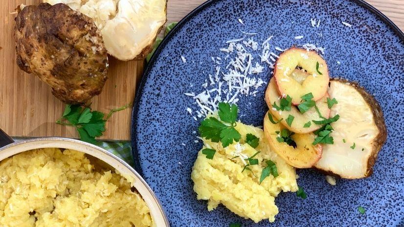 Knollensellerie mit Kartoffelpüree und Apfel - Knollensellerie - TCM Ernährung - Ernährungsumstellung - 5 Elemente - TCM Ernährungsexpertin - Anna Reschreiter - annatsu