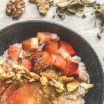 Rezept Haferflocken Porridge mit Zwetschken aus der TCM - Porridge - Haferflocken - TCM Ernährung - 5 Elemente - Anna Reschreiter - annatsu