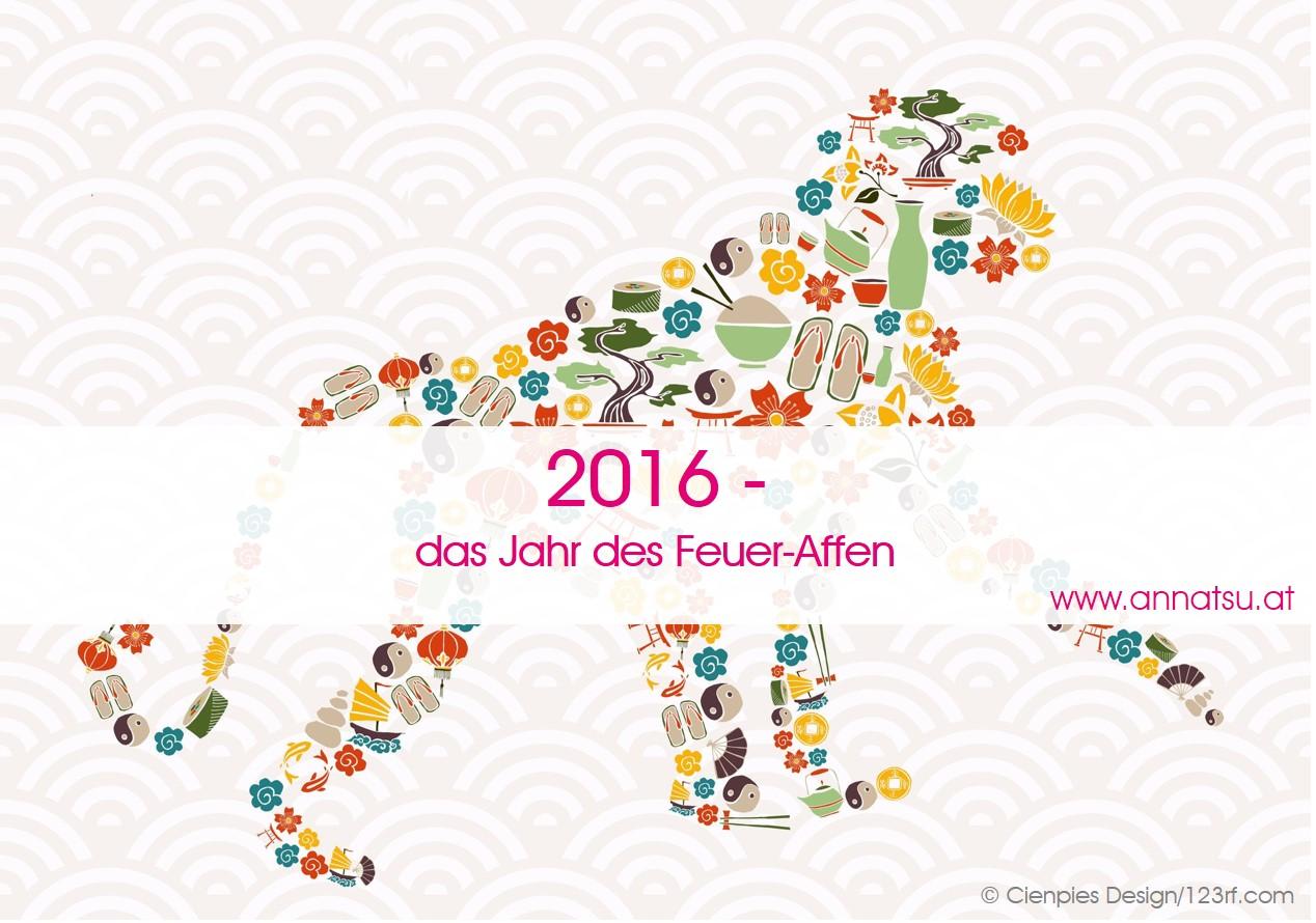 2016 - das Jahr des Feuer Affen - TCM Ernährungsberatung - Shiatsu - Anna Reschreiter
