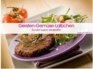 3 Wochen Durchstarter Kurs - TCM Ernährung geht ganz EINFACH - Rezept Gersten-Gemüse-Laibchen - TCM Ernährungsberatung - Shiatsu - Anna Reschreiter
