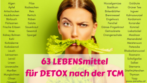 63 LEBENSmittel Kräuter Gewürze für DETOX mit der TCM - TCM Ernährungsberatung Wien - Anna Reschreiter