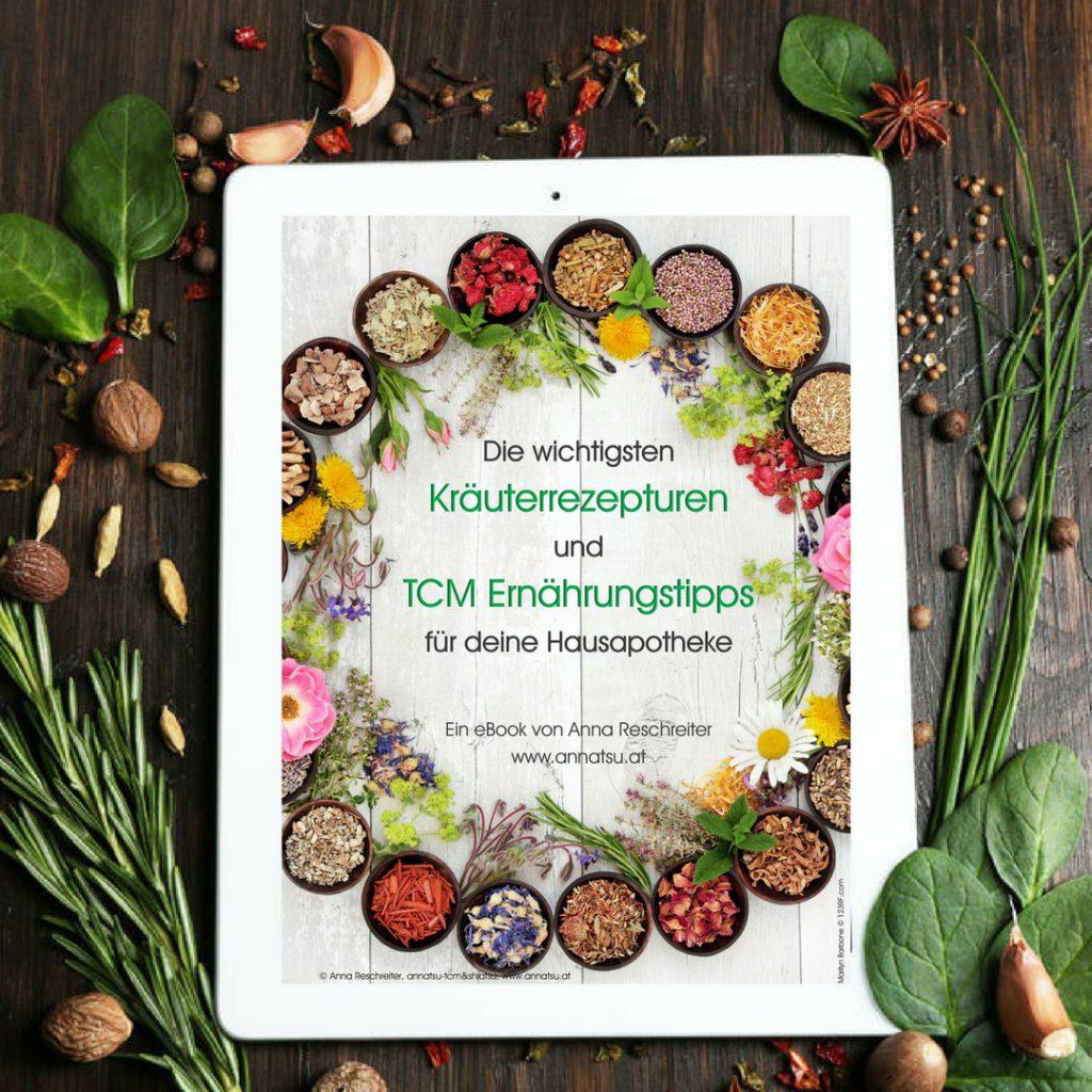 eBook Kräuter Hausapotheke nach den 5 Elementen der TCM - TCM Ernährung - 5 Elemente Küche - TCM Ernährungsberatung Wien - Anna Reschreiter