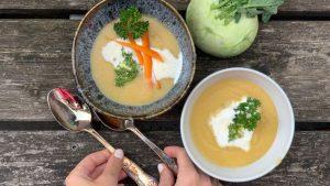 Rezept Kohlrabicremesuppe nach der TCM - Kohlrabi - Suppe - TCM Ernährung - 5 Elemente - Anna Reschreiter - annatsu