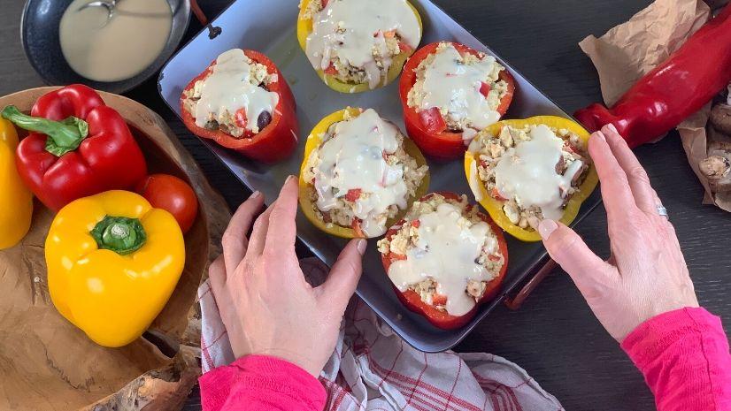 Rezept gefüllte Paprika nach der TCM - vegetarisch - Detox - TCM Ernährung - 5 Elemente - Anna Reschreiter - annatsu