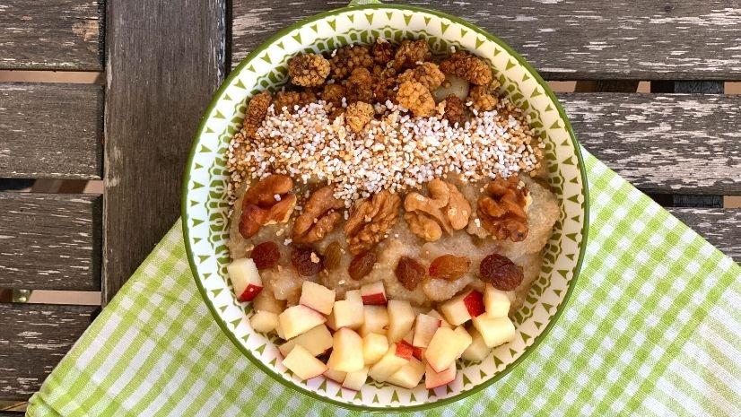 Amaranth Porridge nach TCM - Porridge - 5 Gänge TCM Weihnachtsmenü - TCM Ernährung - Ernährungsumstellung - 5 Elemente - TCM Ernährungsexpertin - Anna Reschreiter - annatsu