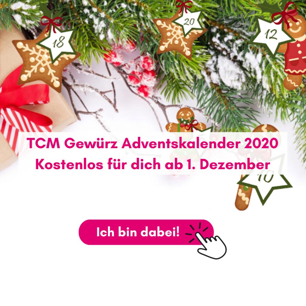TCM Gewürz Adventskalender 2020 - 24 Rezepte - 24 Gewürze - Wirkung nach TCM - Traditionell Chinesische Medizin - 5 Elemente Ernährung - TCM Küche - TCM Ernährungsexpertin - Anna Reschreiter - annatsu