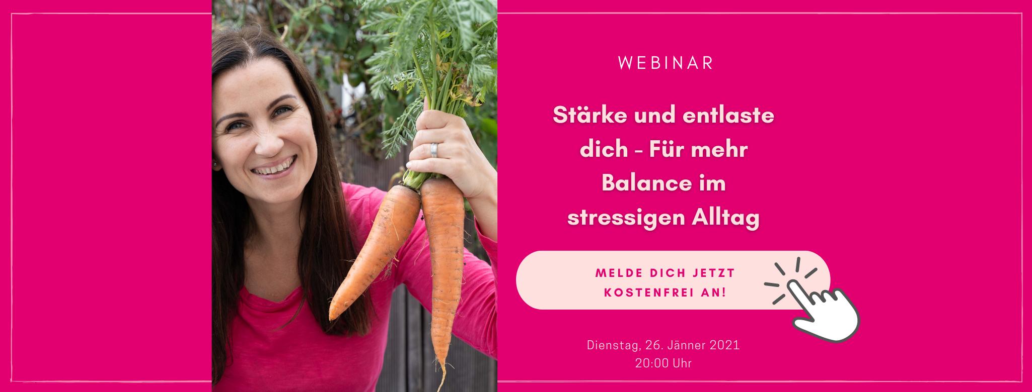 Webinar - Stärke und entlaste dich - Für mehr Balance im stressigen Alltag - Immunsystem stärken - Ernährungsumstellung - TCM Ernährungsexpertin - Anna Reschreiter - annatsu